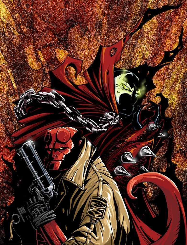 ANOTHER GREAT TEAM UP ALSO SPAWN AND HELLBOY WOULD MAKE A GREAT TEAM ...