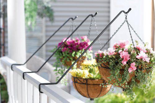 Angled Deck Hangers Deck Planters Planters Balcony Plants