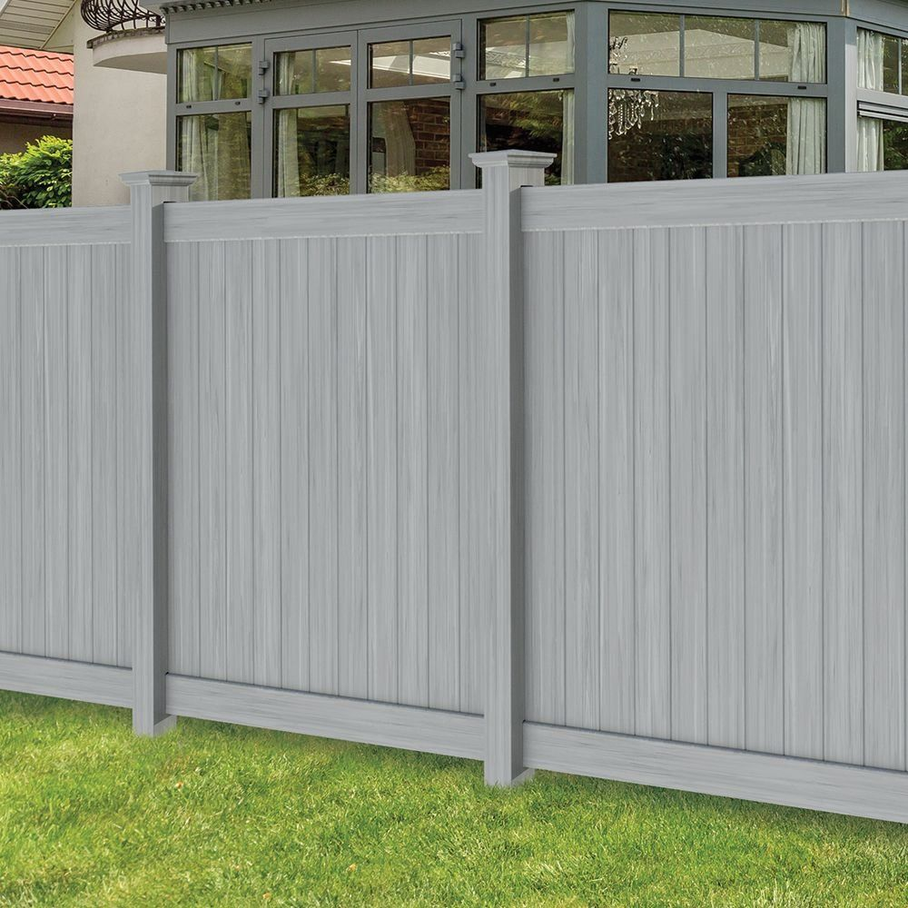 Hampton 6x6 Vinyl Privacy Fence Kit Vinyl Fence Freedom Outdoor Living For Lowes 1000 In 2020 Vinyl Fence Panels Vinyl Privacy Fence Vinyl Fence
