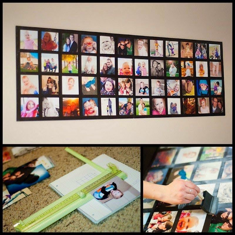 Turn Dollar Store Foam Core Boards And Your Favorite Photos Into A Wall Picture Collage Picture Collage Picture Collage Wall Collage Diy