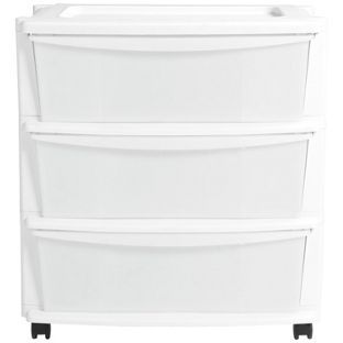 Buy HOME 3 Drawer Plastic Wide Tower Storage Unit   White At Argos.co.