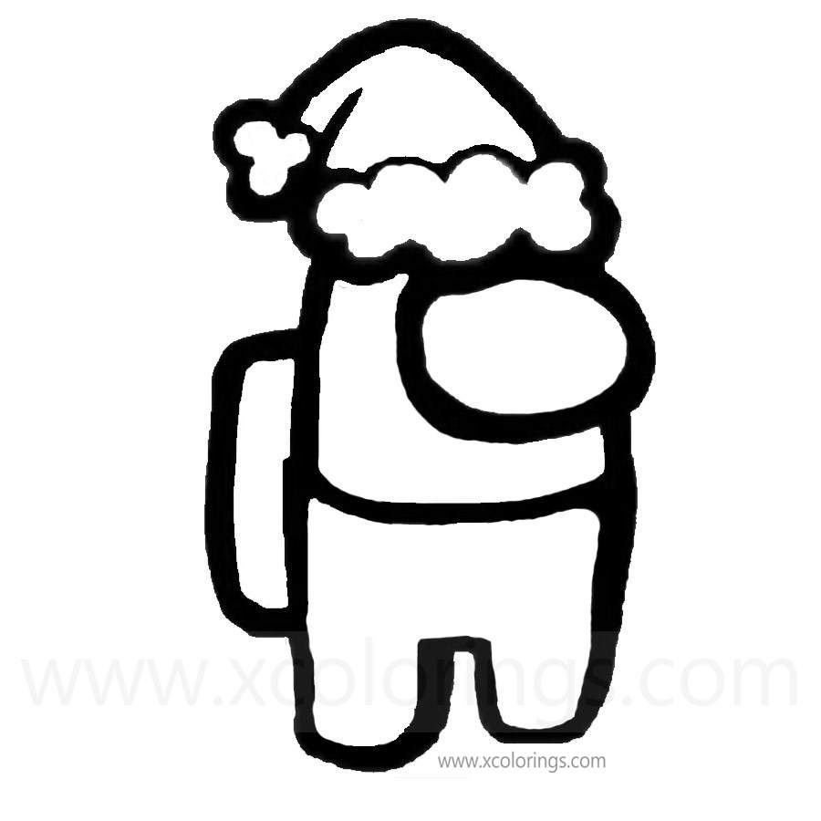 Among Us Coloring Pages Astronaut With A Pet Hat Xcolorings Com Coloring Pages Santa Coloring Pages Christmas Coloring Pages