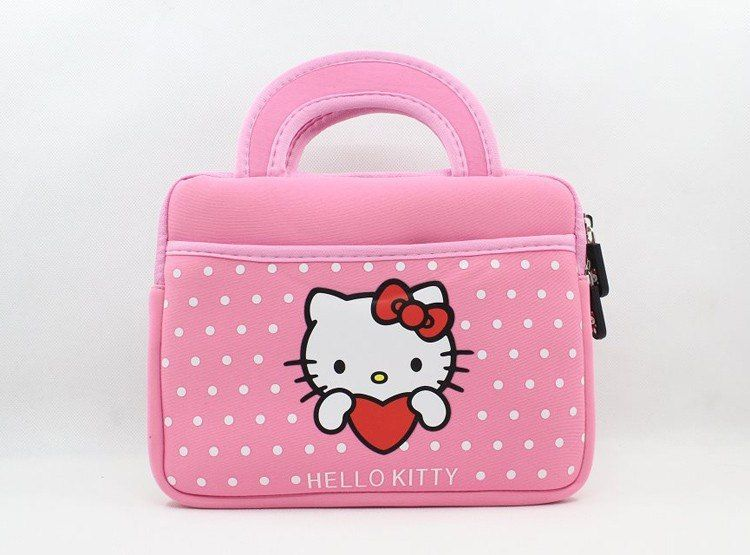 Cute hello kitty soft case bag handbag pouch skin sleeve