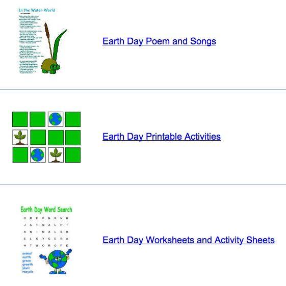 Earth Day Crafts from DLTK | Preschool Scavenger Hunt | Pinterest ...