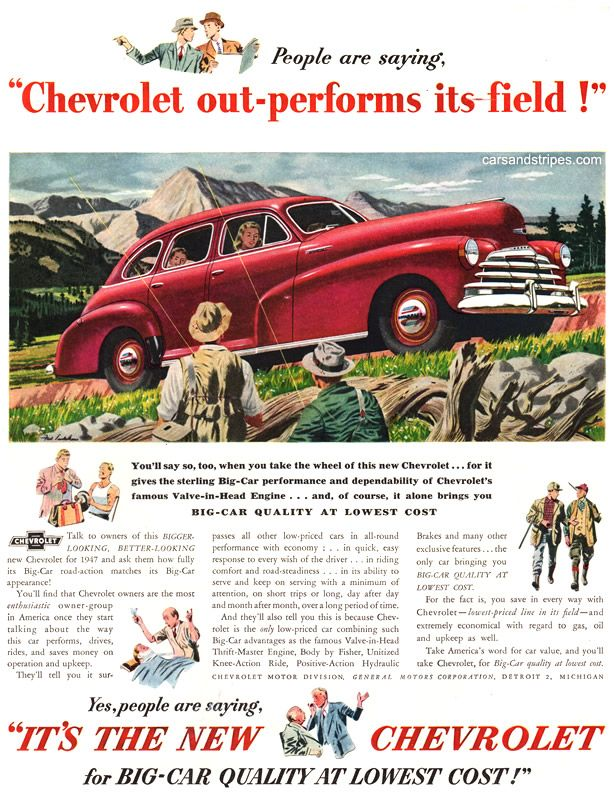 1947 chevrolet people are saying original ad chevy\u0027s i like1947 chevrolet people are saying original ad