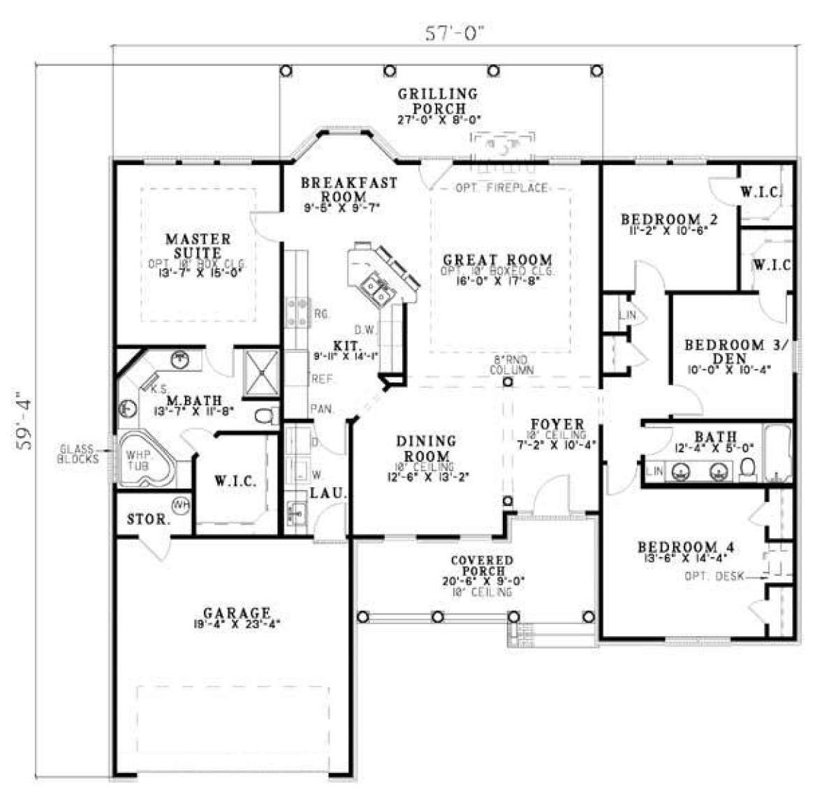 Traditional Plan: 1,911 Square Feet, 4 Bedrooms, 2 Bathrooms - 110-00371