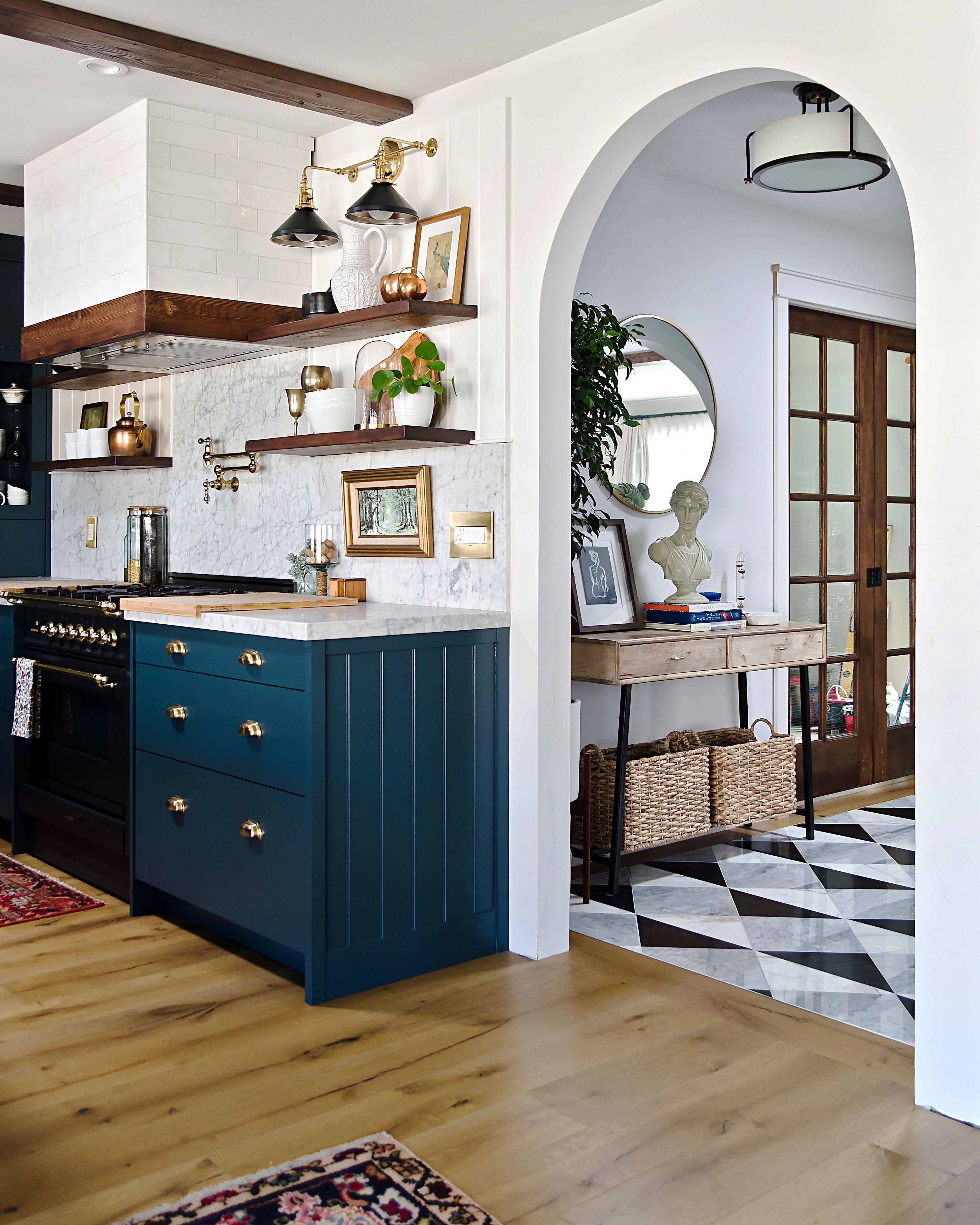 navy kitchen with a stunning built in semihandmade navykitchen in 2020 interior design on kitchen decor navy id=29973