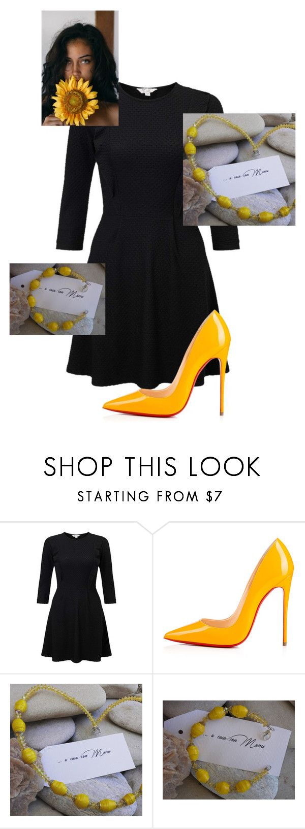 """girasole"" by acasaconmanu ❤ liked on Polyvore featuring Miss Selfridge, Christian Louboutin and Giallo"