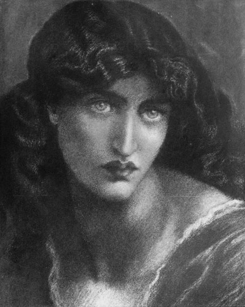 Dante Gabriel Rossetti Study Of Jane Morris For The Salutation