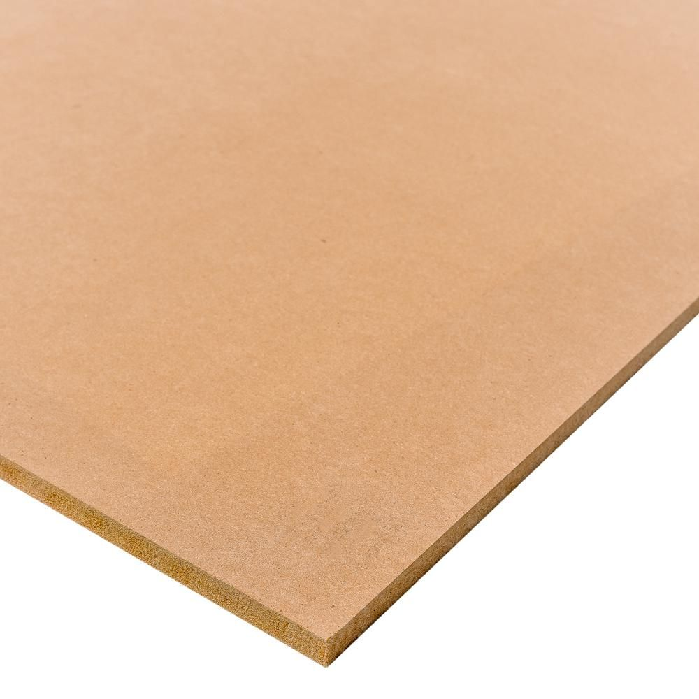 Dimensions Medium Density Fiberboard Common 1 2 In X 2 Ft X 4 Ft Actual 0 483 In X 23 75 In X 47 75 In 225478 The Home Depot Project Panels Fiberboard Painting Shelves