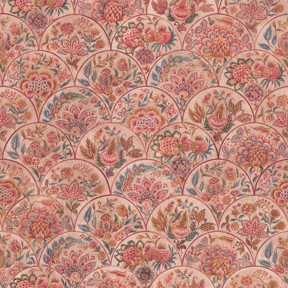 The Lucknow Chintz Designer Wallpaper from Nilaya by Asian Paints