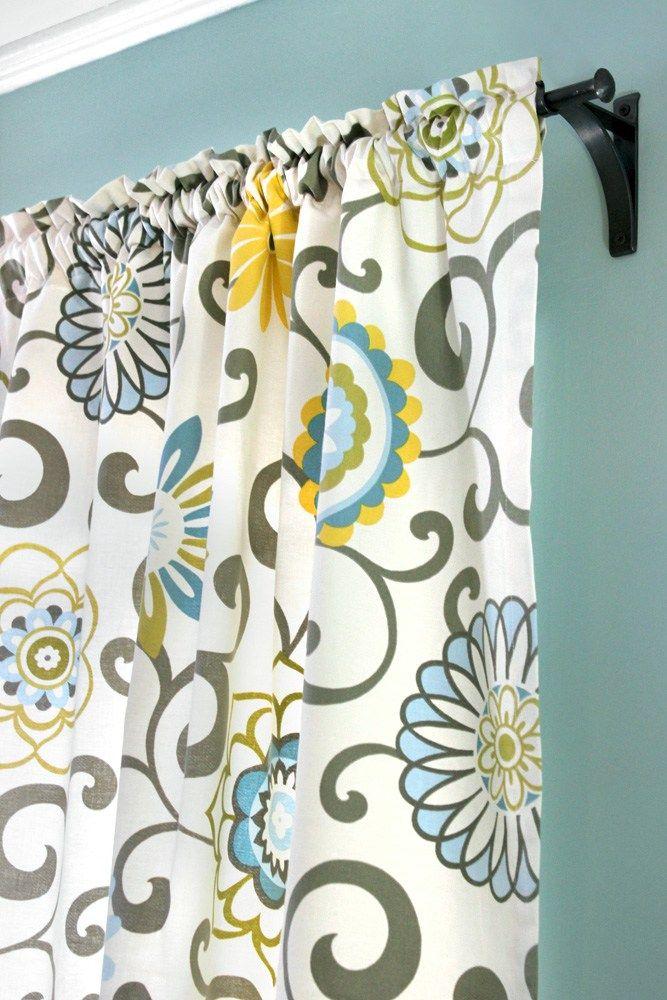 How To Make Rod Pocket Curtains | Rezept | Schnittmuster und Nähen