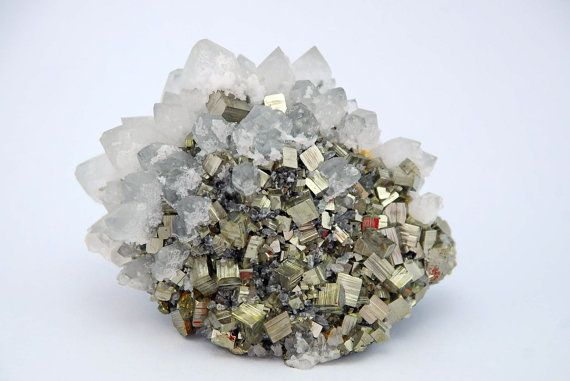 Wonderful Pyrite And Quartz Crystal From by ...Quartz Crystal Science