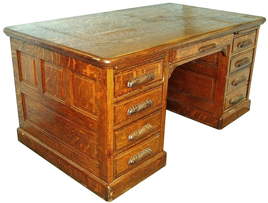 7245 american eastlake oak executive desk 7245 removed