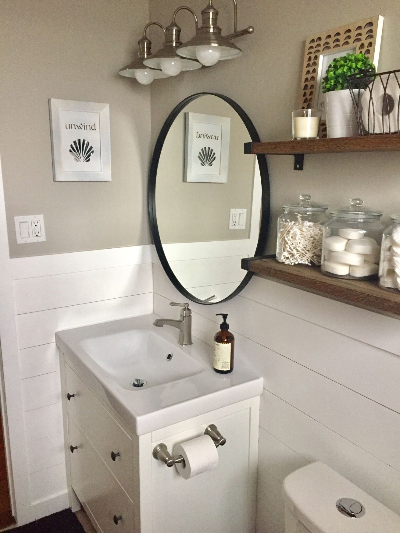 Fresh Modern Powder Room Reveal Keys To Inspiration: Don't Replace It, Reface It!