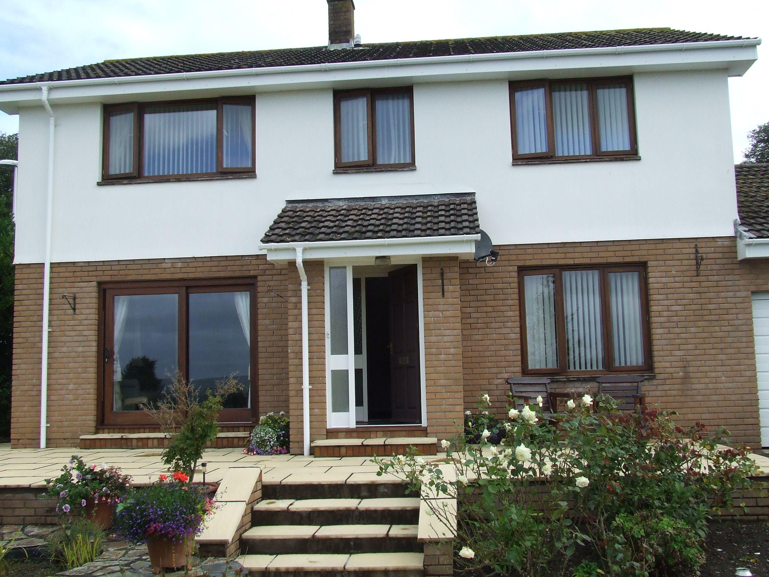 Stained hardwood double glazed windows | Window prices ...