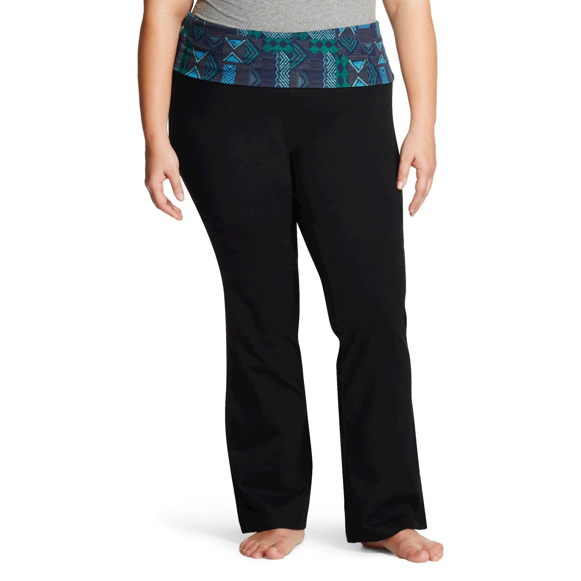df9c4b7c5e097 Women's Plus Size Bootcut Yoga Pant Blue Tribal Print 4X - Mossimo Supply  Co.(Juniors')
