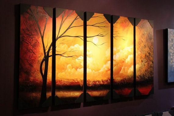 Yellow Sandstorm Landscape Canvas Installation Art Large Wall Art ...