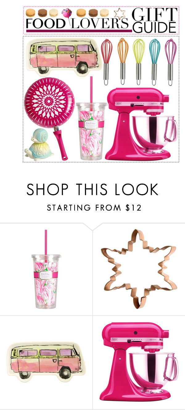 """""""Food Lovers: Gift Guide!"""" by mizz-miranda-lynn1993 ❤ liked on Polyvore featuring interior, interiors, interior design, home, home decor, interior decorating, Lilly Pulitzer, H&M, Fishs Eddy and KitchenAid"""