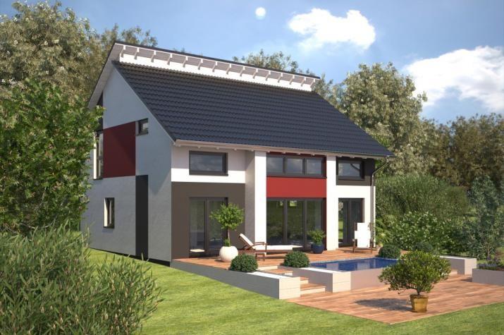 Fassadengestaltung einfamilienhaus modern  Bildergebnis für dachterrasse satteldach halb überdacht | Hausbau ...
