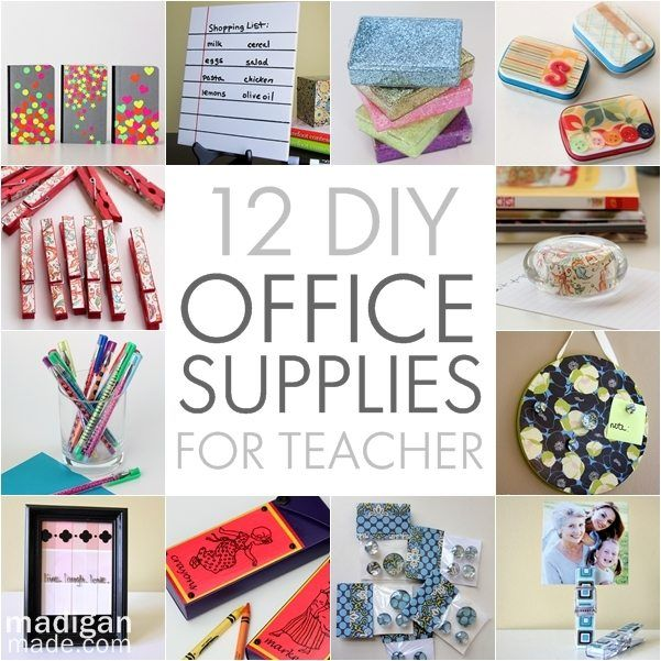 12 pretty diy office supplies to make for teacher for Diy office accessories