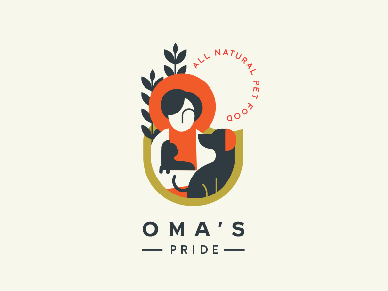 Oma S Pride Pet Food Concept Dog Logo Design Branding Design Logo Logo Design Inspiration