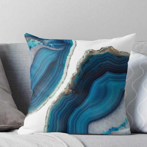 'Blue Agate' Throw Pillow by cafelab Young Room