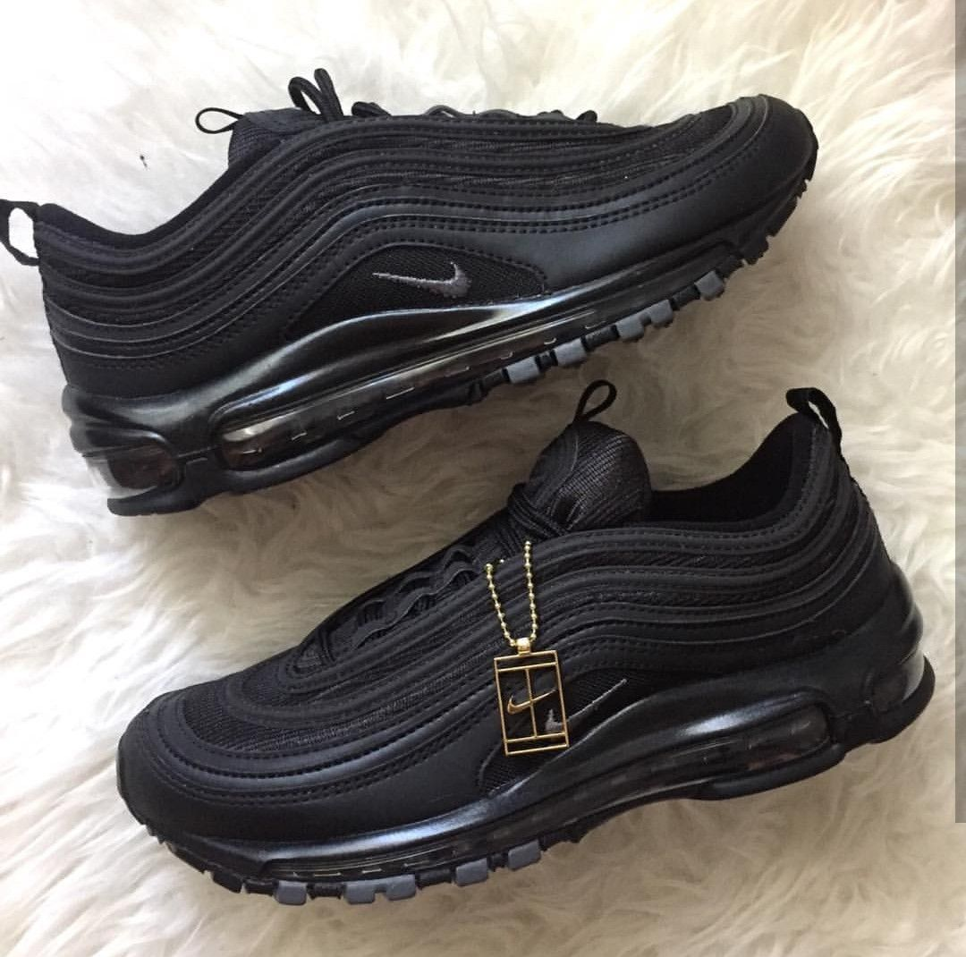nike air max thea 97 in pure black schwarz foto gloria. Black Bedroom Furniture Sets. Home Design Ideas