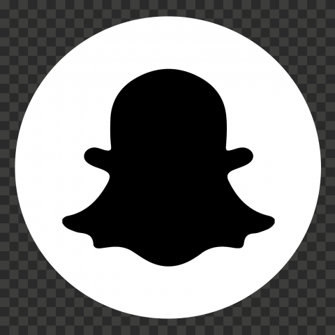 Round Snapchat Logo Icon Ghost Black And White Png Snapchat Logo Logo Icons Black And White