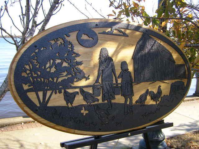 Items Similar To Metal Wall Art Farm Scene On Etsy Metal Yard Art Metal Wall Art Steel Art