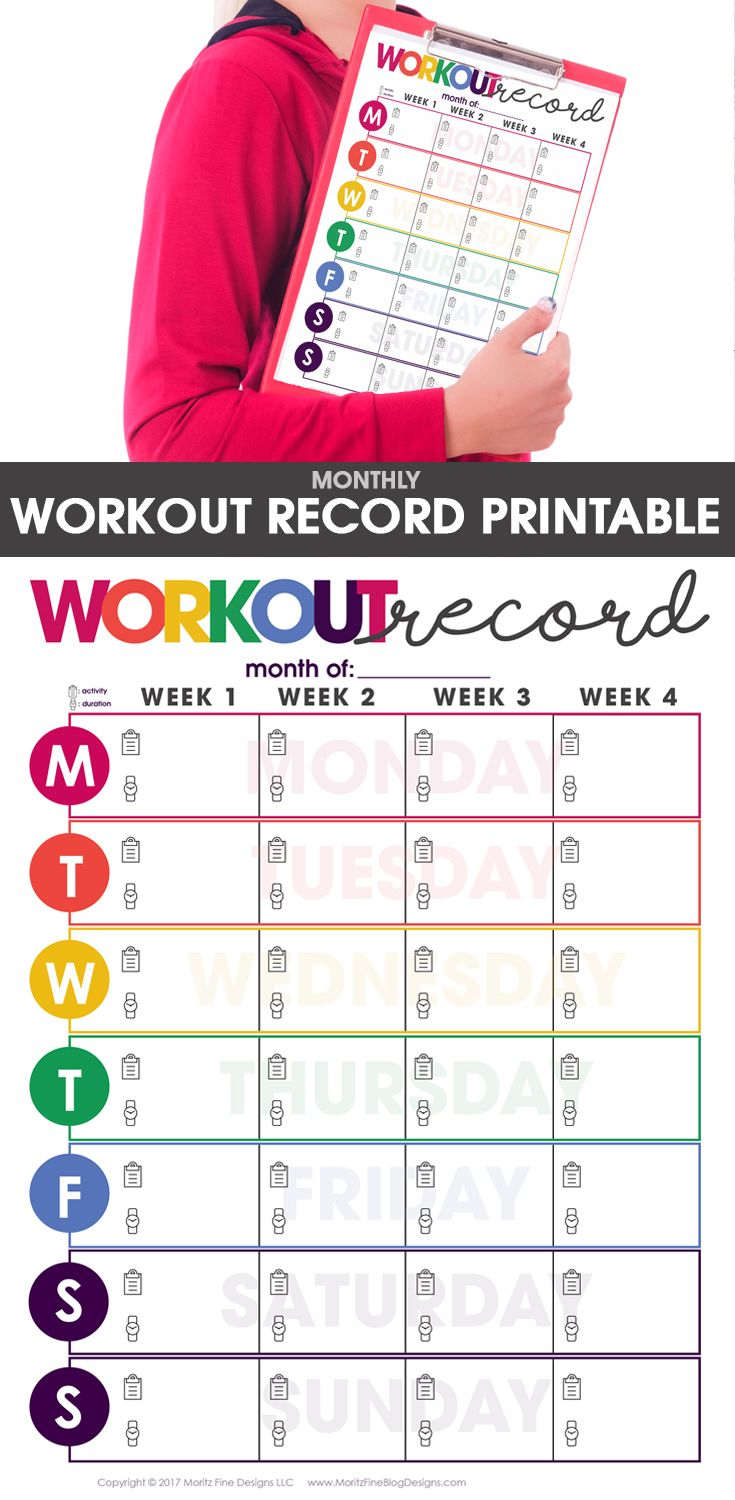 24+ Free Printable Weight Loss And Exercise Tracker