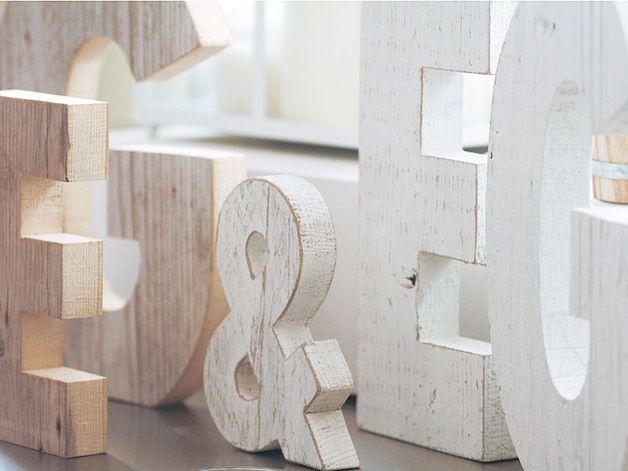 Lettere per arredare lettere e numeri in legno di for Lettere in metallo per arredare