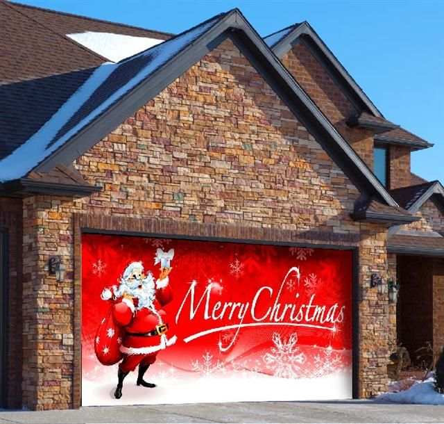Santas Merry Christmas Standard 2 Car Garage Door Part# CSMC2C/$249