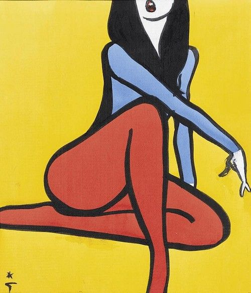 'Femme Assise' - artwork by Rene Gruau, 1968