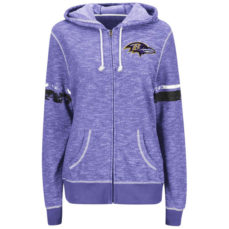 976725ff5 Baltimore Ravens Majestic Women s Athletic Tradition Full-Zip Hoodie -  Purple
