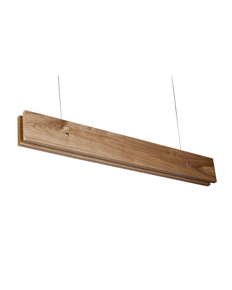 Wooden Shade Rectangular Pendant Light is handsome ...