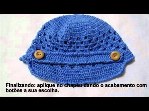 Passo a passo Touca Gorro Crochê Menino - Professora Simone - YouTube 18cb493b827
