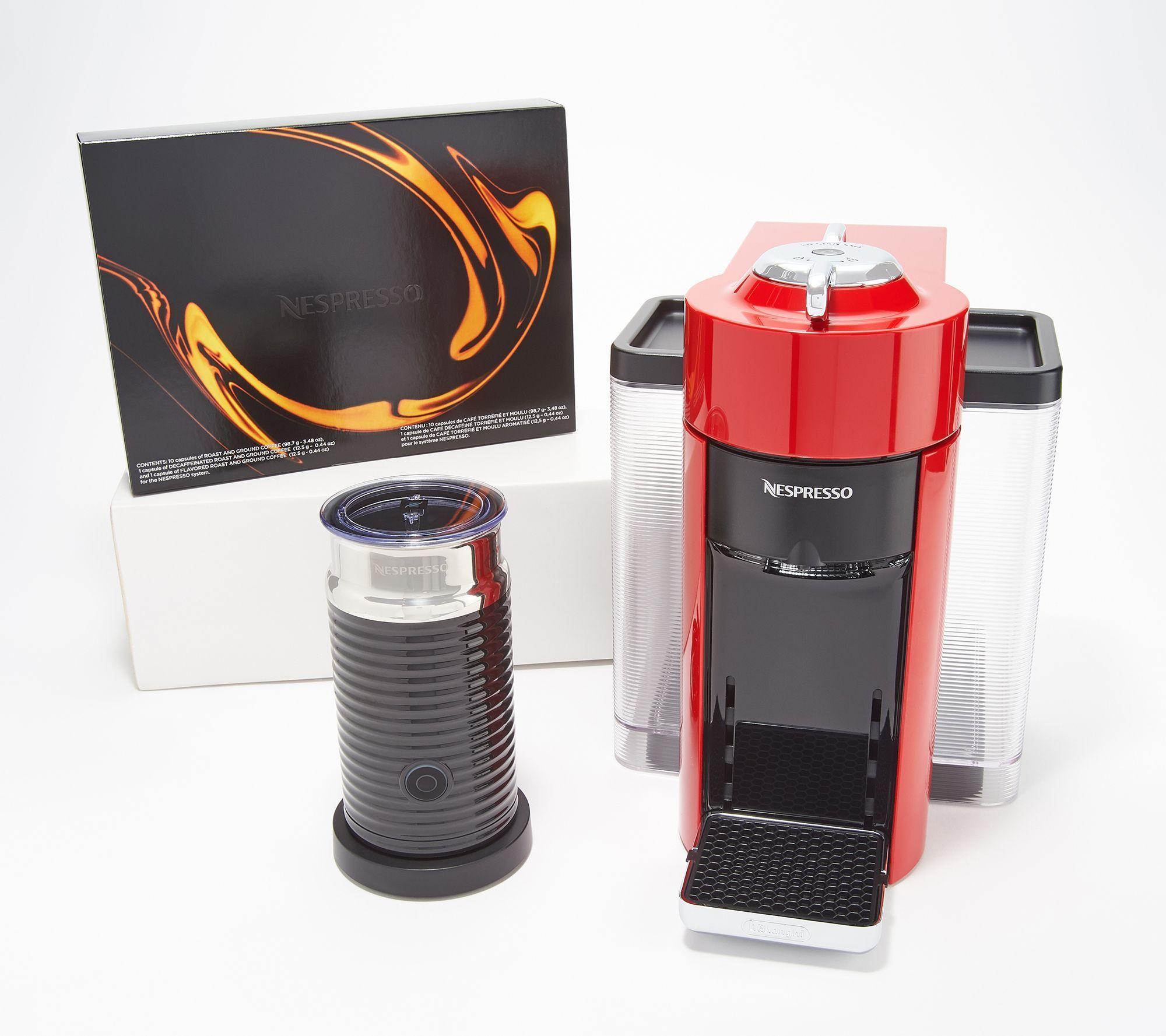 Nespresso Vertuo Coffee And Espresso Maker W Coupon Milk Frother Qvc Com Espressomaker Nespresso Vertuo Coffee And Espresso Maker Milk Frother Nespresso