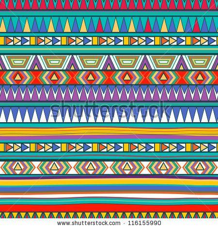 Seamless tribal pattern by Lola Tsvetaeva, via ShutterStock