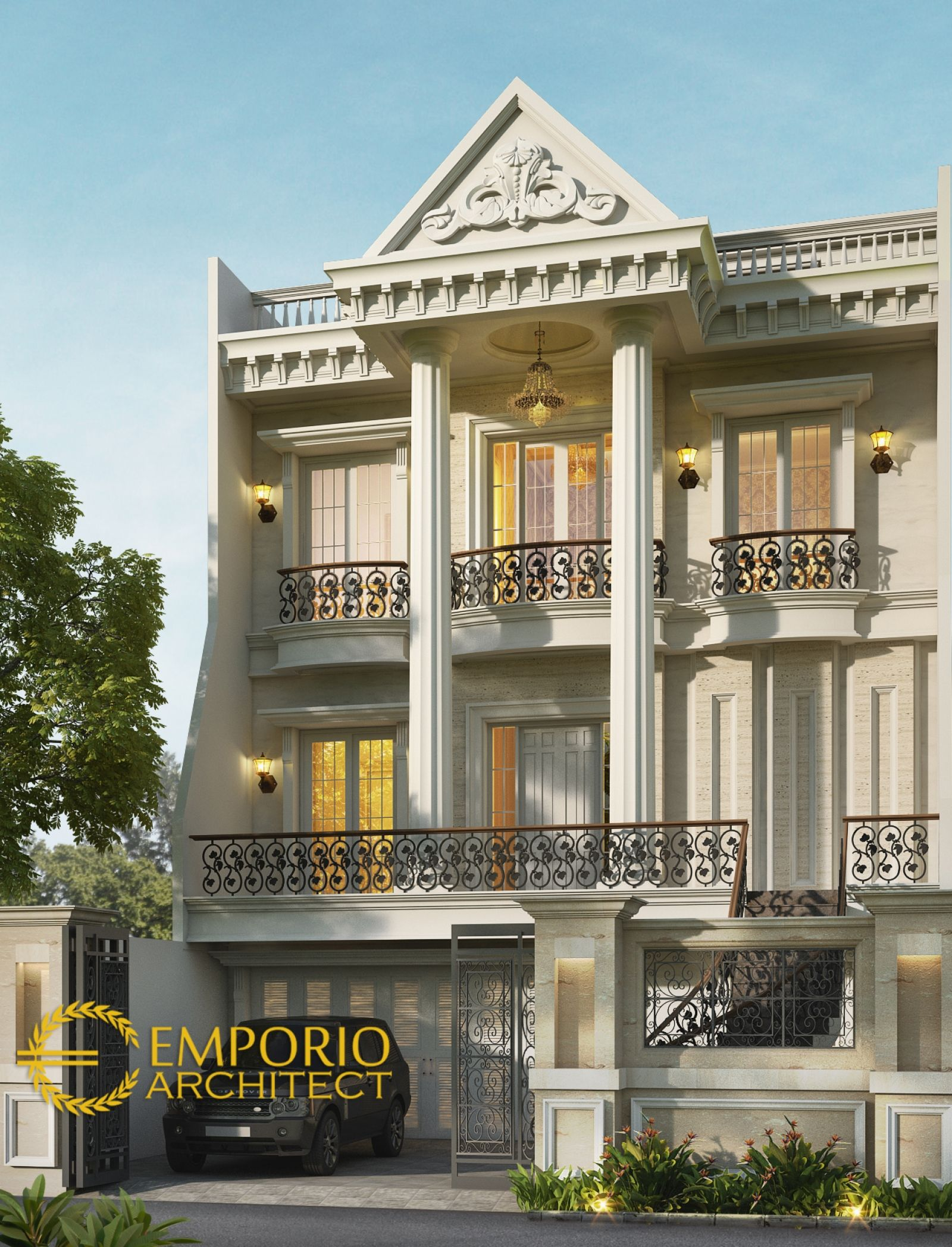 Desain Rumah Bapak Erik di Sunter Jakarta arsitektur