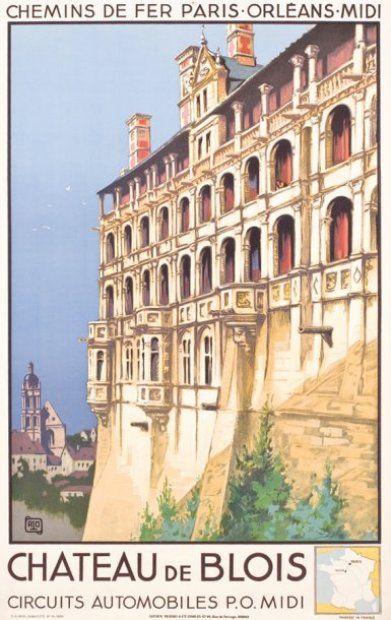 chemins de fer parisorlansmidi chateau de Blois 1934