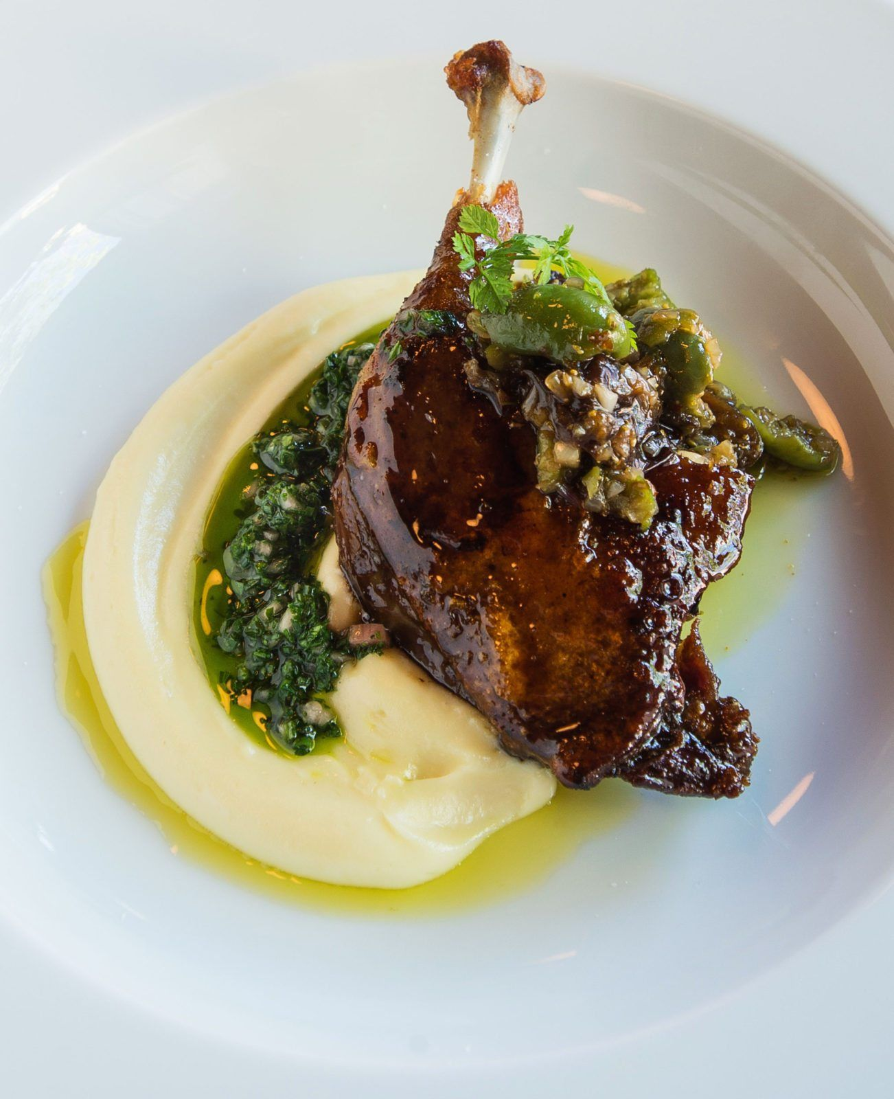 Recipe: Lacquered Duck Confit with Cracked Green Olive - Chef Fest