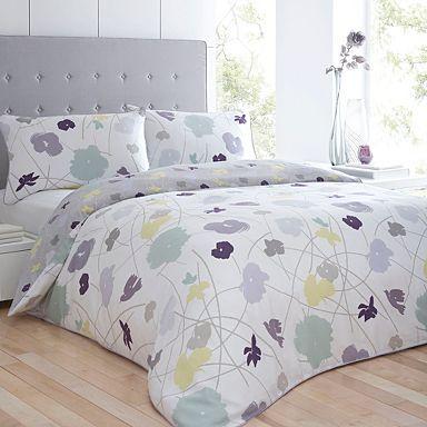 White 'Jennie Floral' bed linen