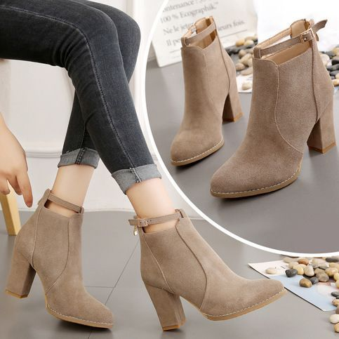 Winter new wild fashion pointed Martin boots female from Eoooh❣❣