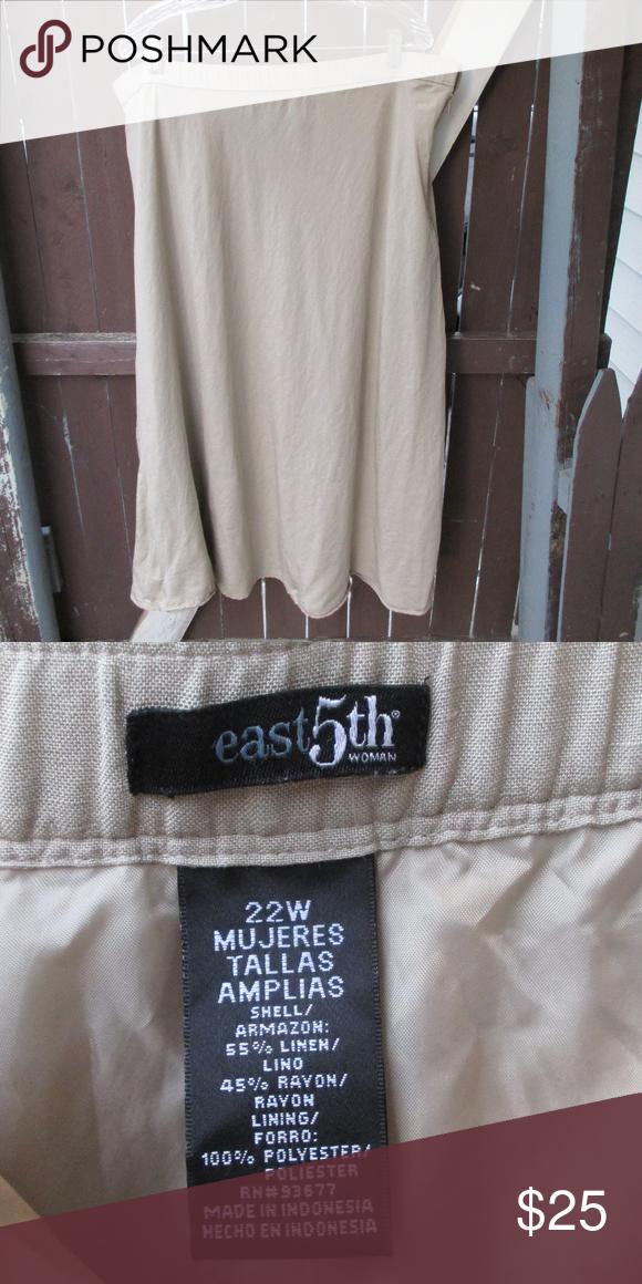 East 5th Tan Skirt 22W East 5th Tan Skirt 22W East 5th