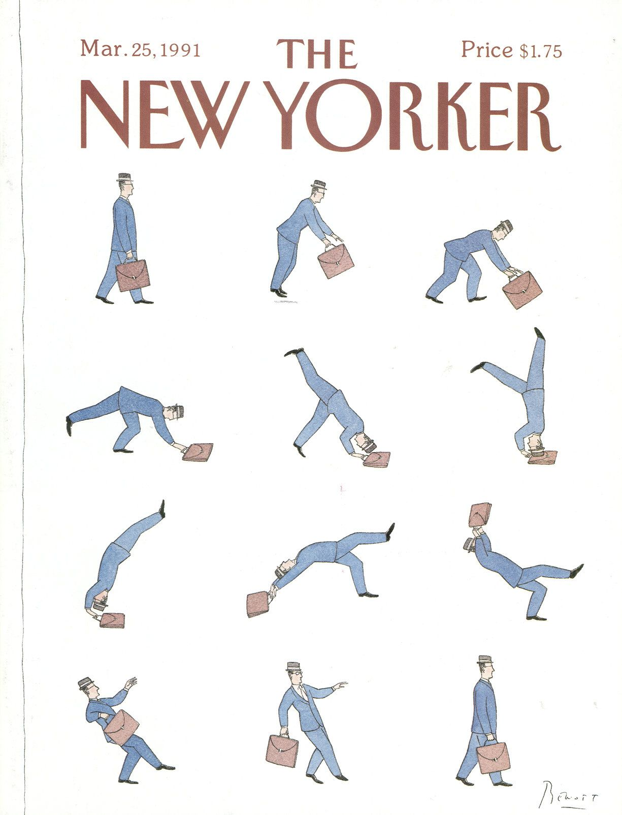 The New Yorker - Monday, March 25, 1991 - Issue # 3449 - Vol. 67 - N° 5 - Cover by : Benoît van Innis