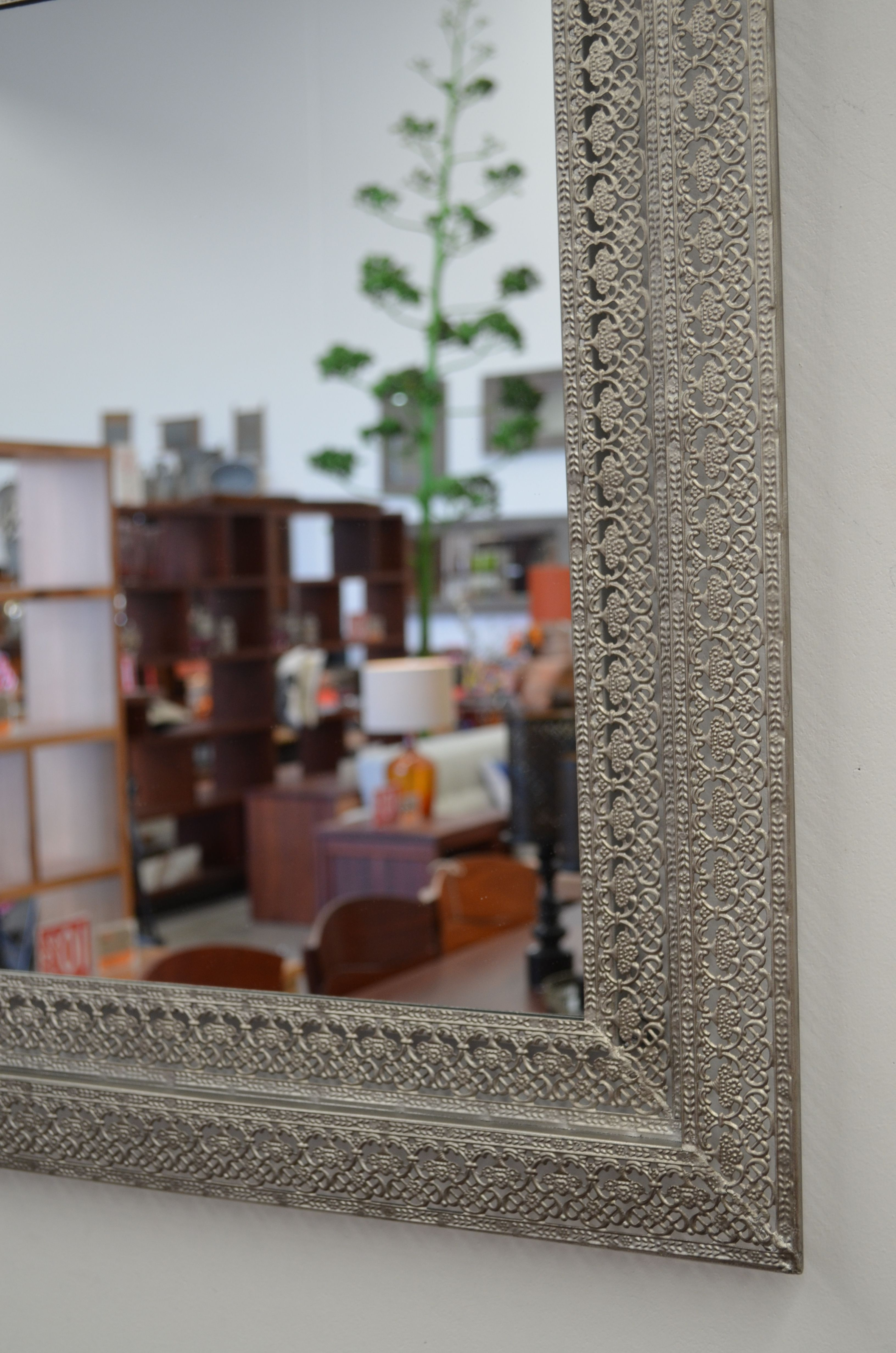 Mirror image in metallic lace at The General Store, Osborne Park
