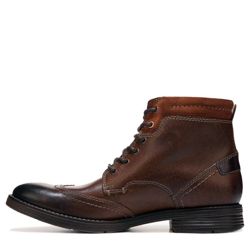 Buy Mens Davington High Top Lace Up Boot Black Leather