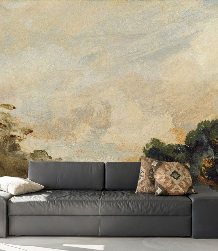 Cloud Study With Trees Wall Mural Wallsauce Us Wall Murals Tree Wall Murals Mural
