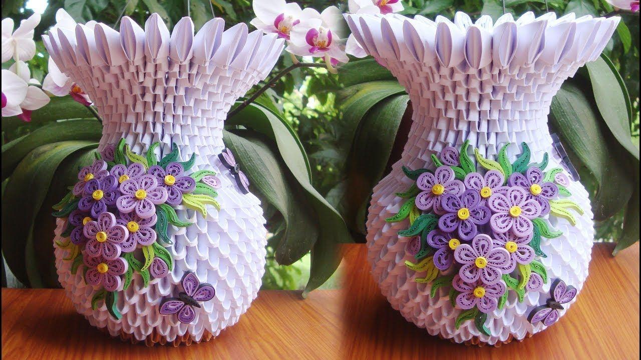 How to make 3d origami flower vase v10 cmo hacer florero de papel how to make 3d origami flower vase v10 cmo hacer florero de papel mightylinksfo